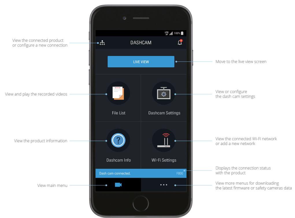 Thinkware-F800 smartphone app