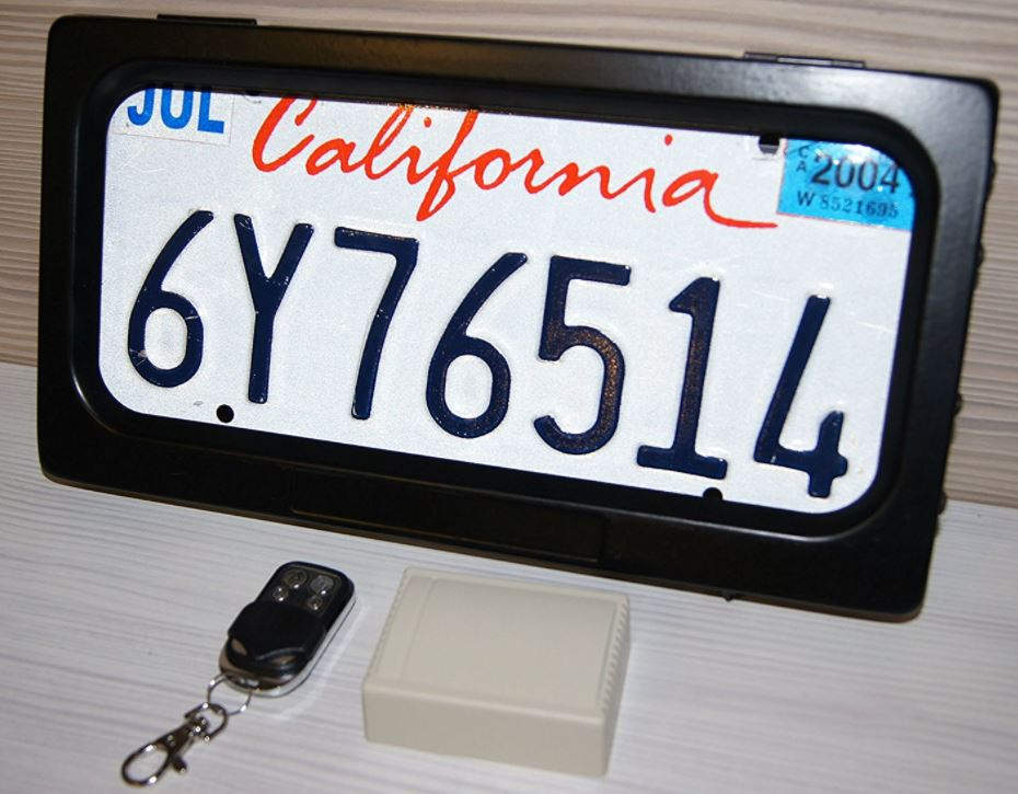 Avaparts License Plate Frame Shutter