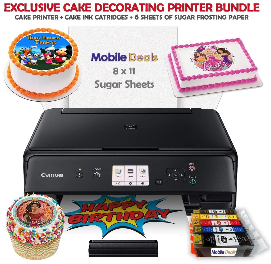Mobile Deals Tasty Treats and Birthday Cake Topper Image Printer Bundle