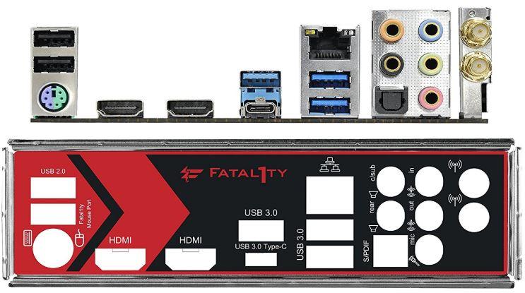 ASRock-Fatal1ty-AB350-Gaming ports