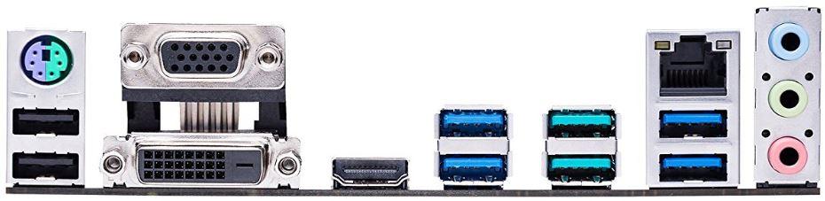 ASUS Prime B350-Plus ports