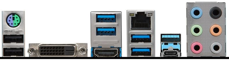 MSI B350 Krait Gaming ports