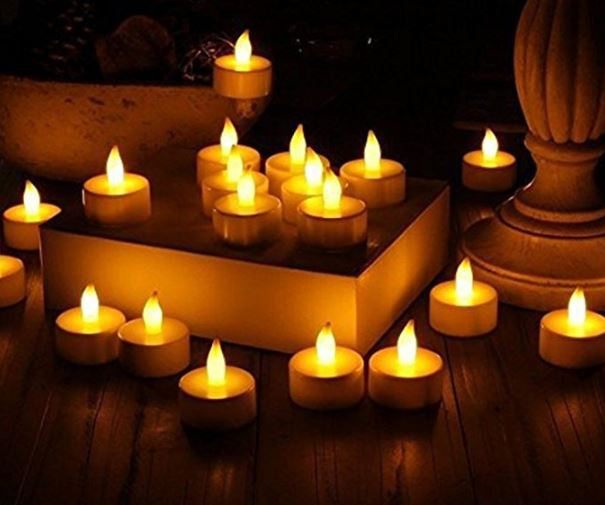 Vont Realistic Bright Flameless LED Tea Light Candles