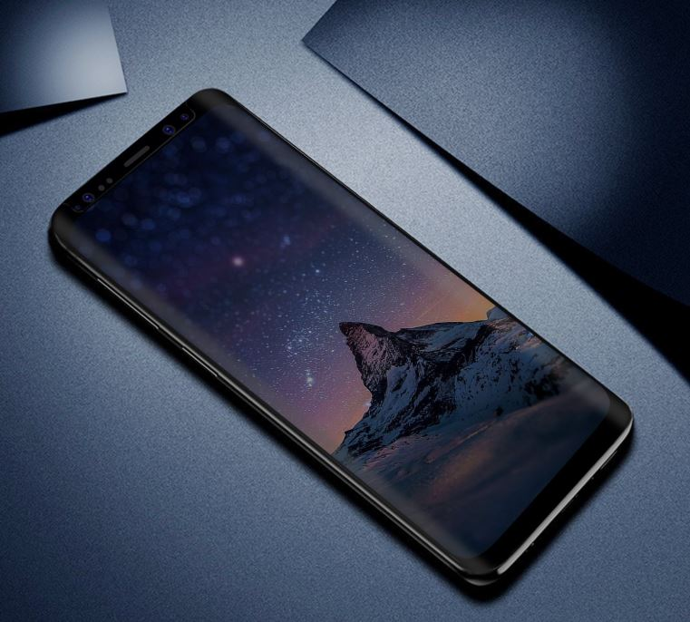 samsung s9 with screen protector
