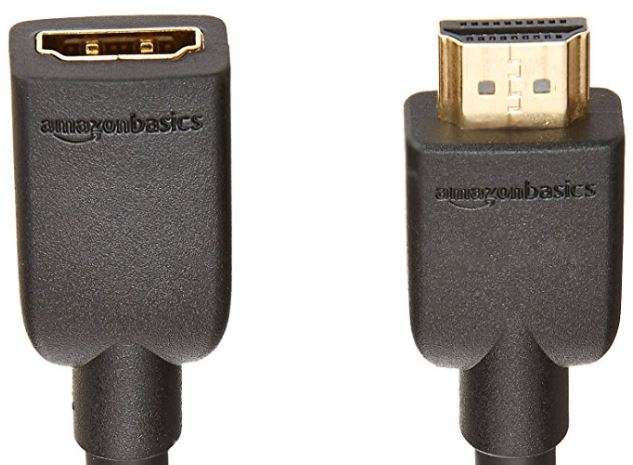 AmazonBasics High-Speed Male to Female HDMI Extension Cable