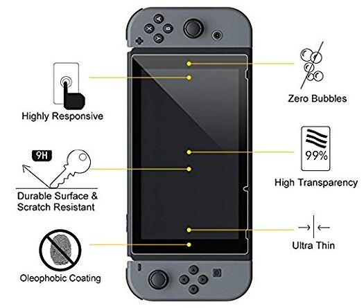 Cellularize Tempered Glass Screen Protector for Nintendo Switch