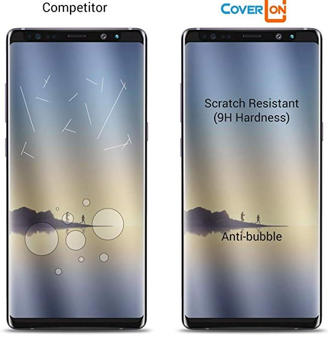 CoverON Galaxy Note 9 Tempered Glass Screen Protector