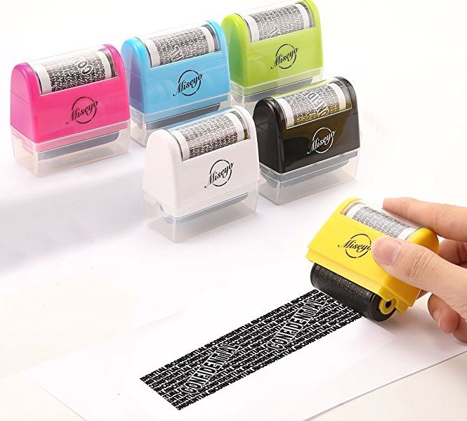 Miseyo Wide Roller Stamp Identity Theft Stamp