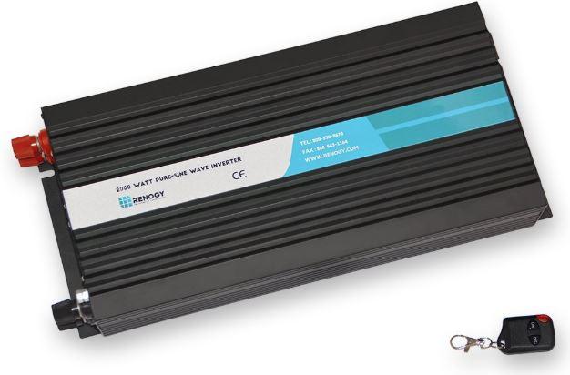 Renogy 2000W 12V Off-Grid Pure-Sine Wave Battery Inverter