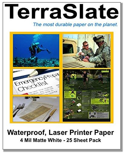 TerraSlate Waterproof Laser Printer/Copy Paper