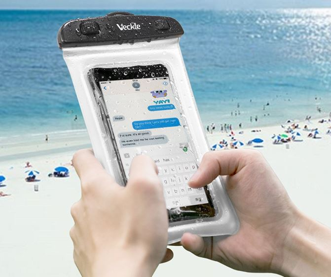 Veckle Clear TPU Universal Waterproof Cell Phone Case