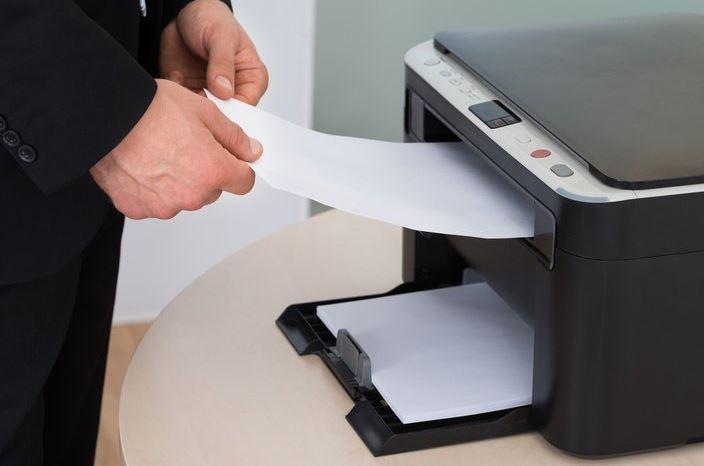 using laser printer