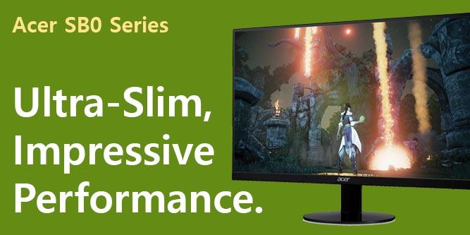 HDMI /& VGA ports 1ms 1920 x 1080 75Hz Refresh IPS Ultra-Thin Zero Frame Monitor with AMD Radeon FREESYNC Technology Acer SB270 Bbix  27 Full HD