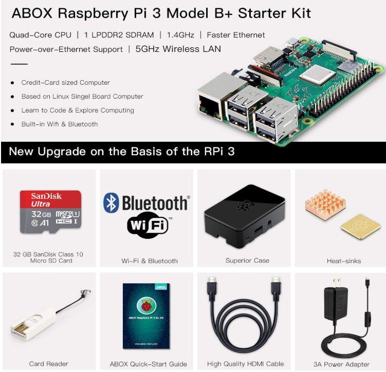 ABOX Raspberry Pi 3 B plus Complete Starter Kit