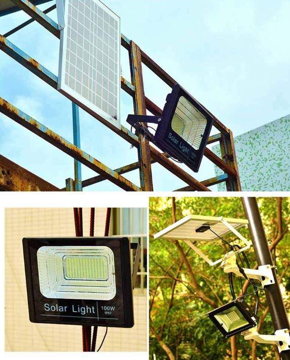 CYBERDAX 100W Solar Powered Flood Light