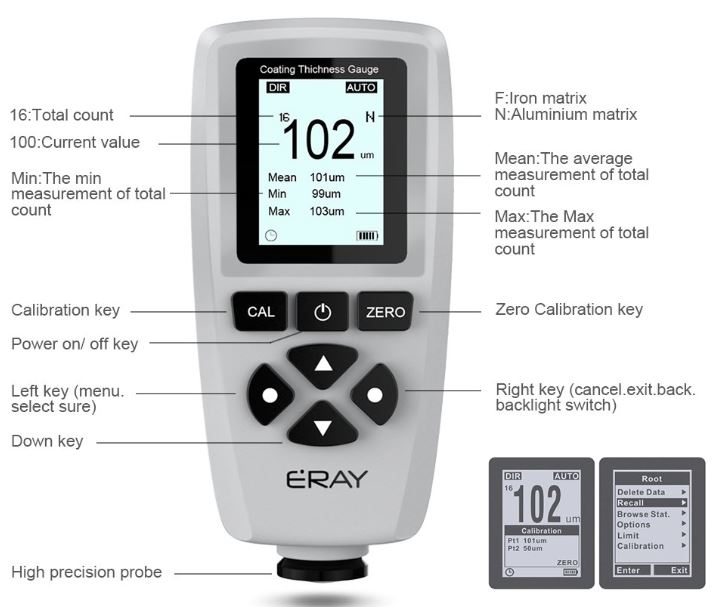 ERAY Coating Paint Thickness Gauge