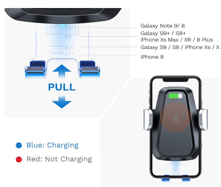 Andobil Wireless Car Charger Mount