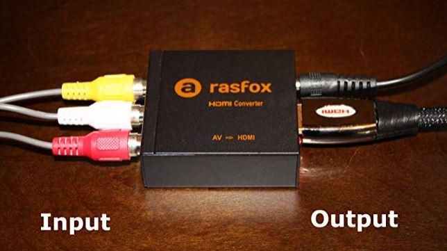 Rasfox Powered RCA to HDMI Converter