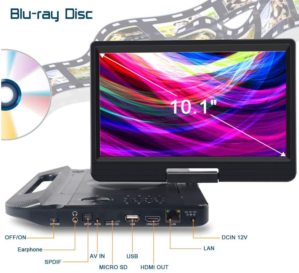 FANGOR Portable Blu-Ray Player