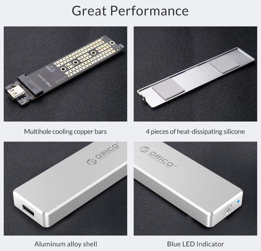 ORICO Aluminum M2 NVMe SSD Enclosure