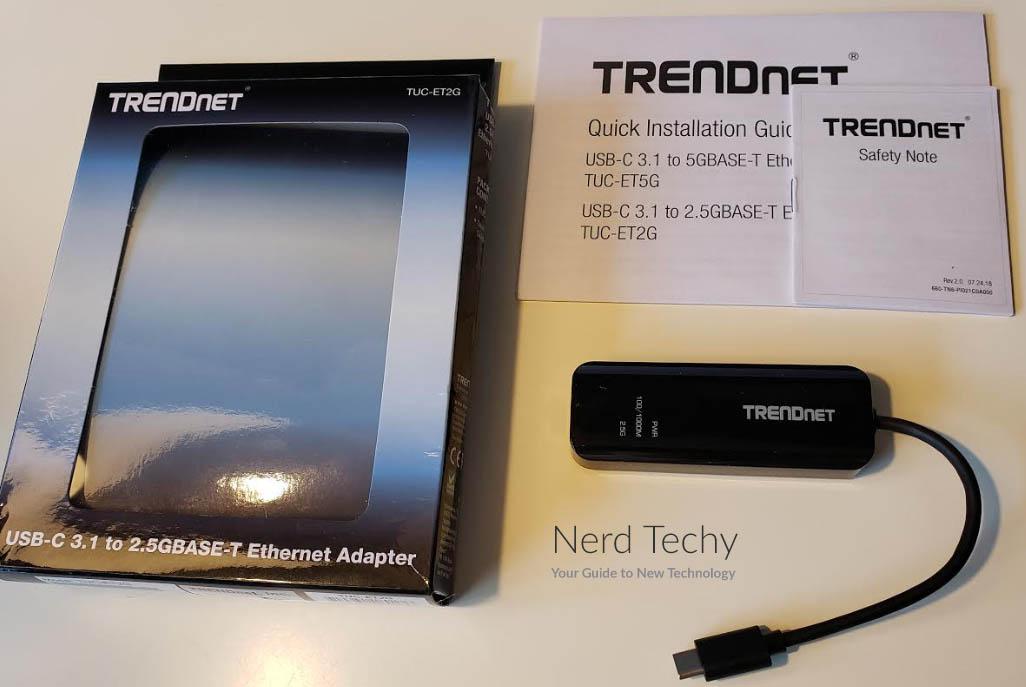 TRENDnet USB-C 3.1 to RJ-45 2.5 Gigabit LAN Ethernet Chromebook Windows 10 8.1 Mac OS,Black TUC-ET2G Cable Adapter for MacBook