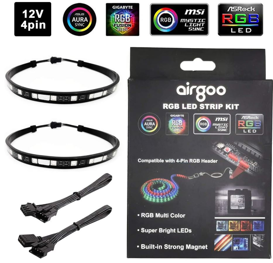 Airgoo PC RGB LED Strip Light Kit
