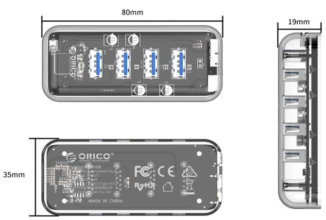 ORICO-USB-3-Hub-4-Ports