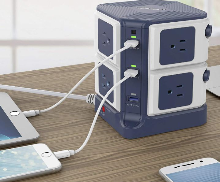 BESTEK Power Strip Tower