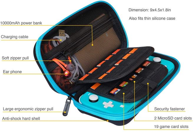 ButterFox Compact Switch Lite Carrying Case