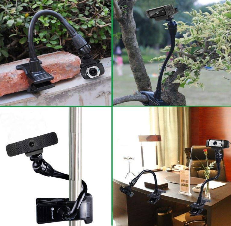 Smatree Flexible Jaws Clamp Webcam Holder