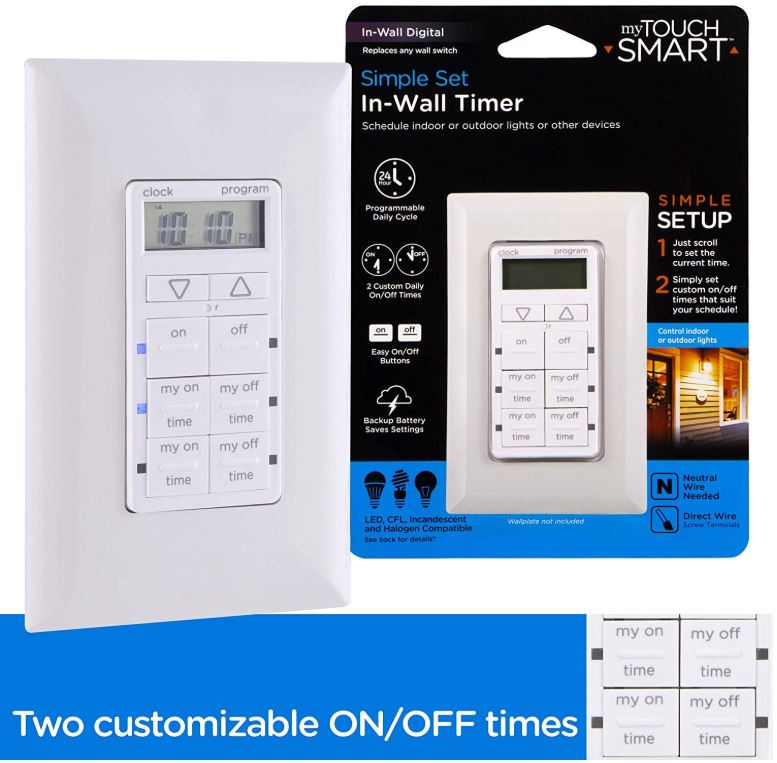 myTouchSmart In-Wall Digital Timer