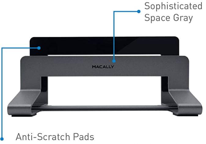 Macally Universal Vertical Aluminum Laptop Stand