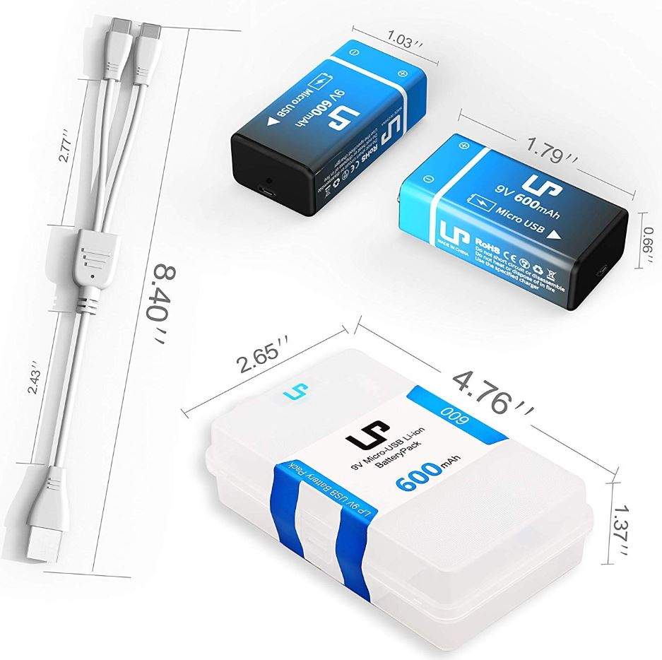 LP 9V Rechargeable Battery Pack