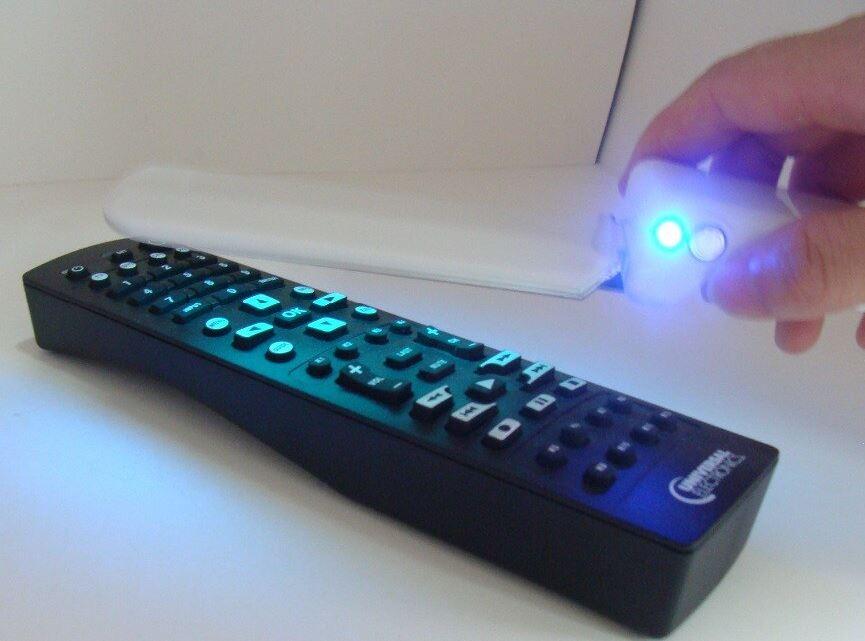 UV sterilization stick wand on remote