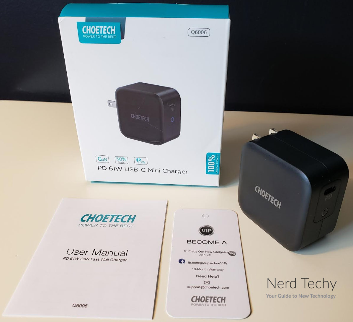 CHOETECH 61W USB-C Charger
