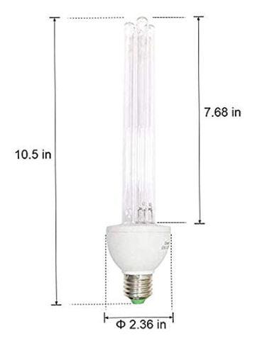 XBOCMY UV Germicidal Ozone Light Bulb