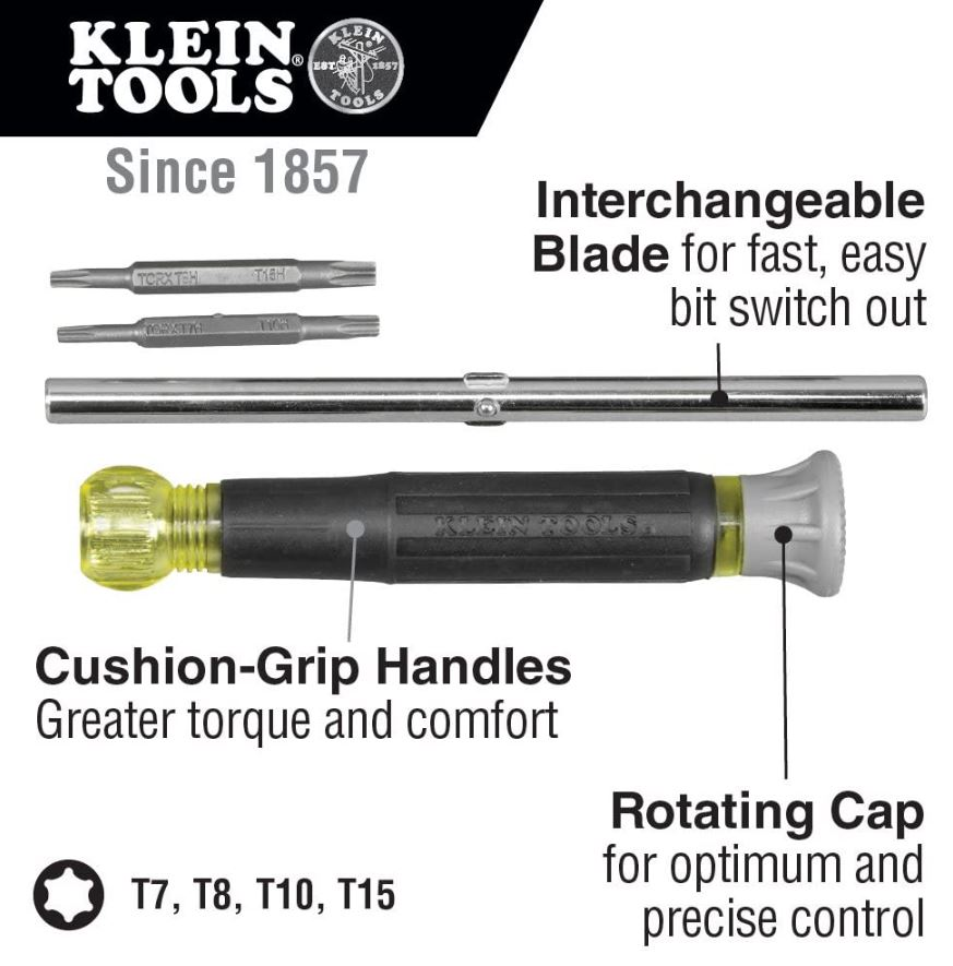 Klein Tools 32585 Multi-bit Precision Screwdriver Set