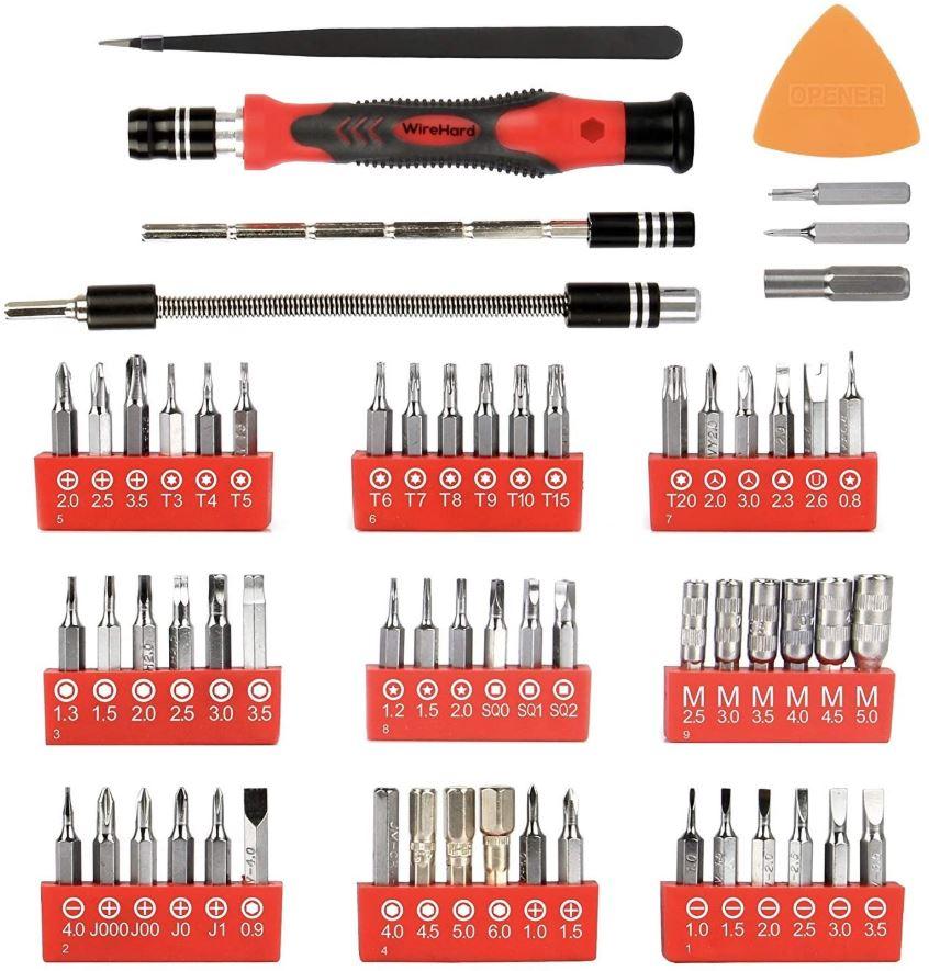 WIREHARD 62 in 1 Precision Repair Tool Kit