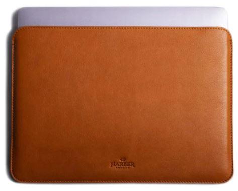 Harber London Slim Leather MacBook Sleeve Case