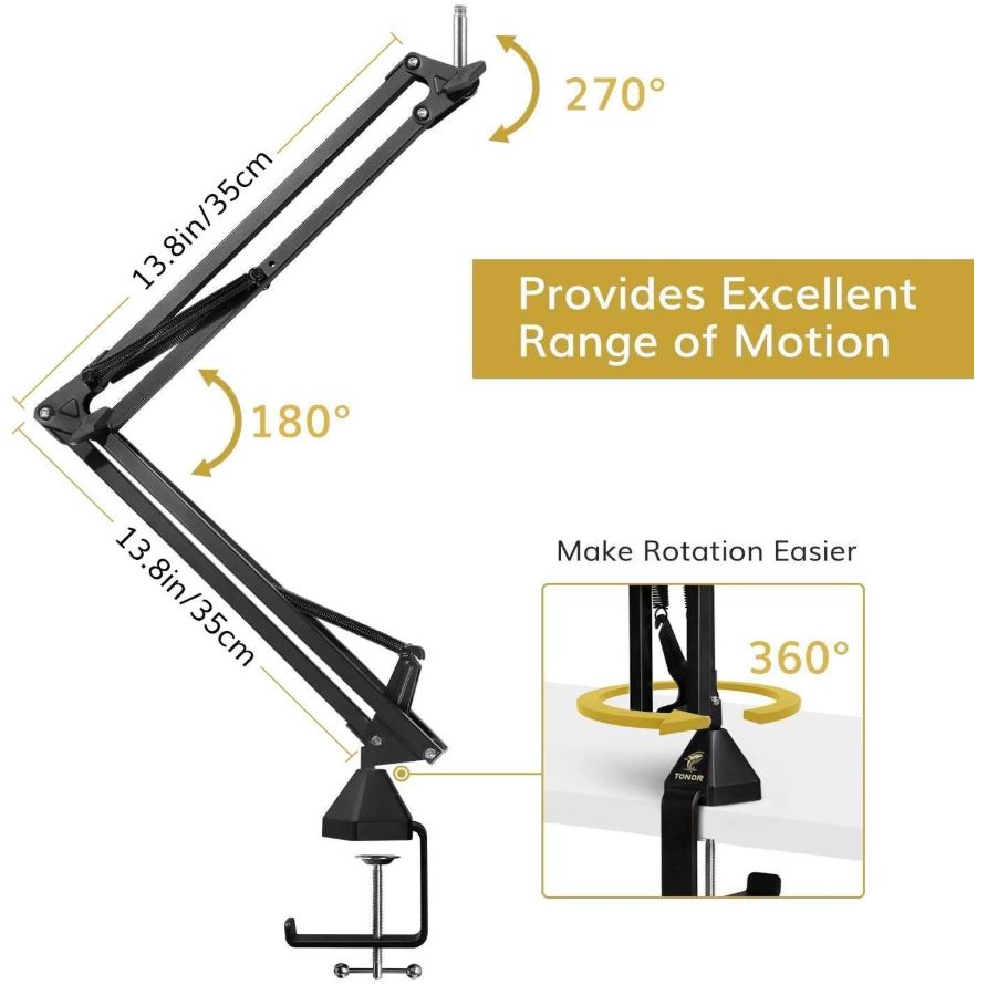 TONOR Adjustable Microphone Arm Stand