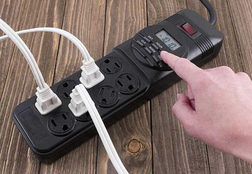 GE 7-Day Programmable Power Strip With Digital Timer