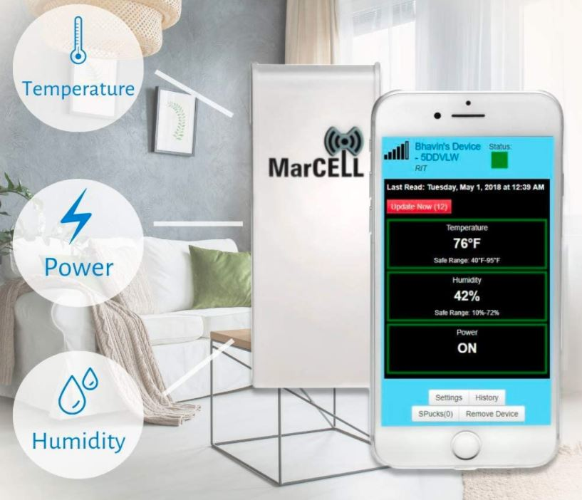 MarCELL Cellular Temperature Humidity Monitor