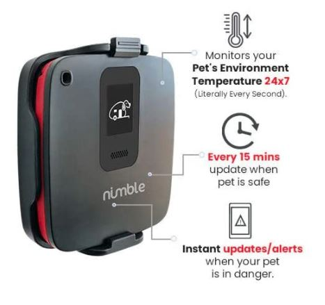 Nimble RV Dog Safety Temperature and Humidity Sensor