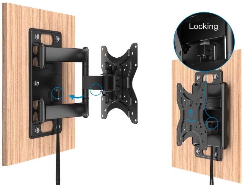 Perlesmith RV Lockable TV Wall Mount