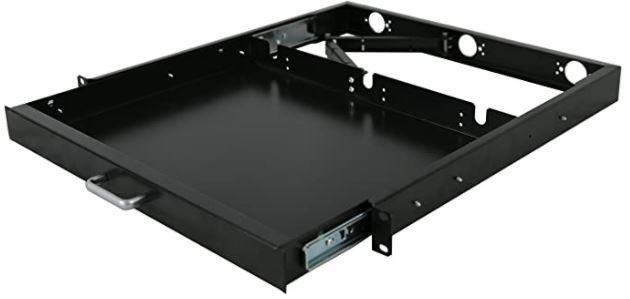 Raising Electronics 1U Rack Mount Sliding Keyboard Tray