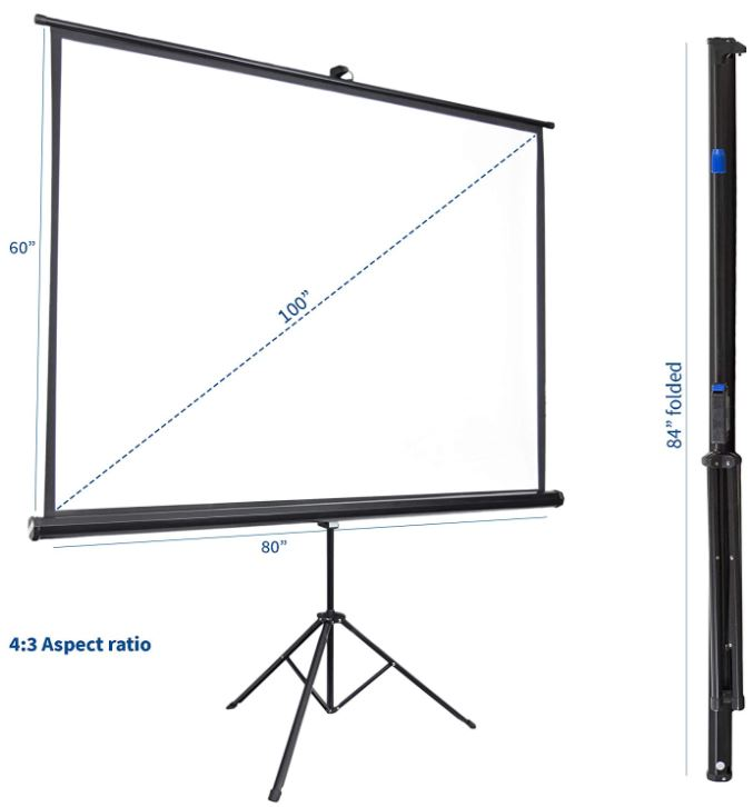 VIVO Portable Projector Screen