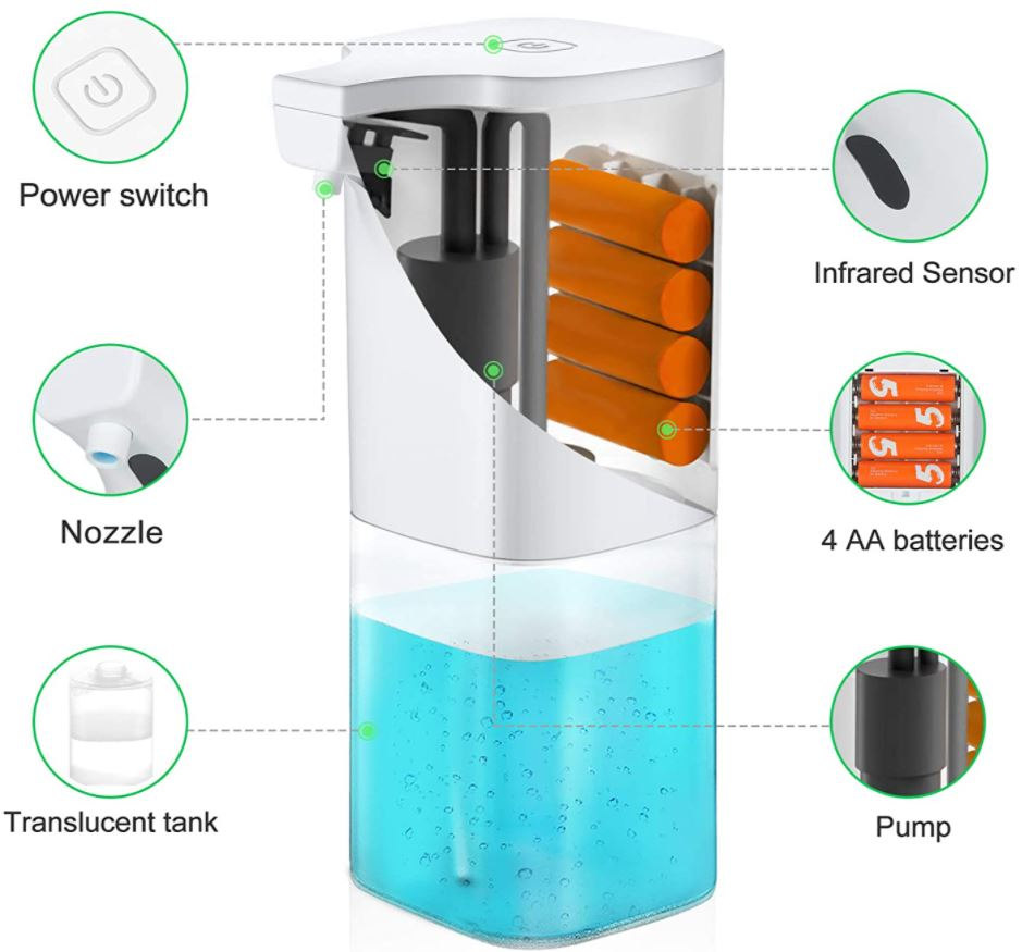 ANVASK Touchless Hand Sanitizer Dispenser