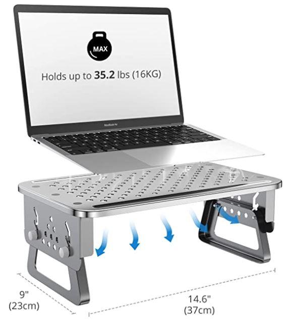 ATUMTEK Aluminum Monitor Stand Riser