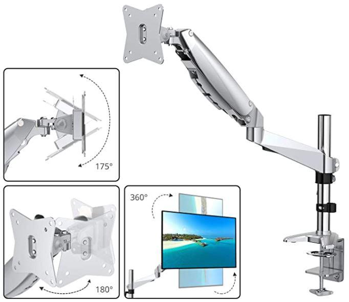 ATUMTEK Single Monitor Arm with Desk Mount