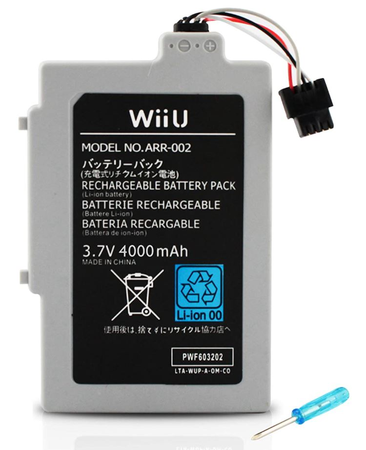 Button Masher Wii U Replacement Battery